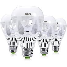 SANSI 18W (150 Watt Equivalent) LED Light Bulbs, A21 LED Bulbs, 2000 Lumens Light Bulbs, 5000K Daylight LED, E26 Base, Bright led bulbs, 4-Pack