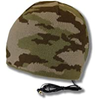 Tooks BRIGADE Camo Headphone Hat With Built-in Removable Headphones - COLOR: DESERT STORM
