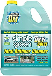 Oxy Solve Total Outdoor Pressure Washer Cleaner - Removes Stains, Mold, and Dirt on Patios, Furniture, RVs, Ve