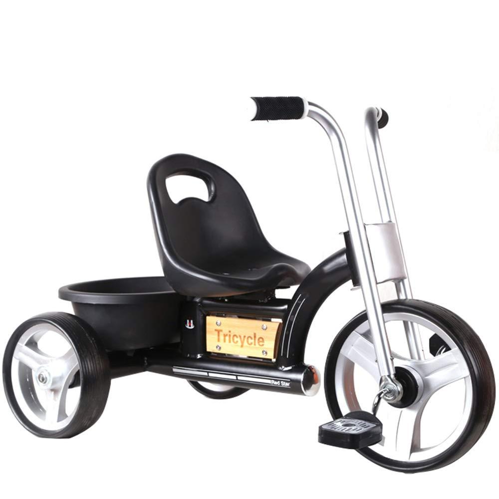 negro YUMEIGE triciclos Niños Trike 1-6 años de Edad, Inglaterra, Bicicletas Retro para niños, Coches de Juguete para niños y niñas Disponible (Color   negro)