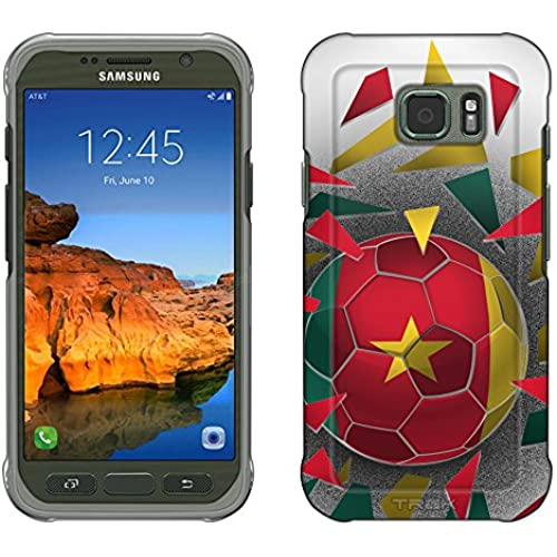 Samsung Galaxy S7 Active Case, Snap On Cover by Trek Soccer Ball Cameroon Slim Case Sales