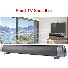Lononvie Household TV Speaker,Wireless Bluetooth Soundbar(15.7in),10W with Subwoofer,Dual Drivers,Hands-free Calls...