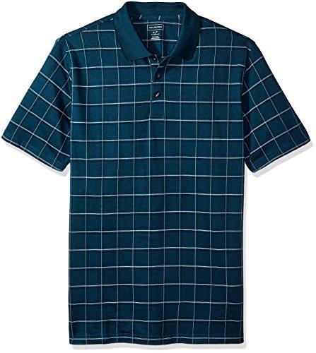 Van Heusen Mens Printed Short Sleeve Windowpane Polo Shirt