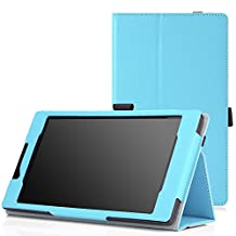 MoKo Lenovo Tab 2 A7-10 Case - Slim Folding Cover Case for Tab 2 A7-10 Android 7 inch Tablet, Light BLUE