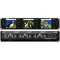 Marshall Electronics V-R43P | Triple 4inch Rack Mounted LCD Panel