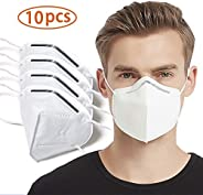 JAYSE 4 Layer Mouth Cover, Protective Face Covers 10 PCS