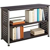 Safco Products 1601BL Scoot Bookcase with 2 Shelves, Black