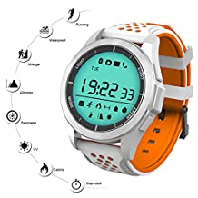 QIMAOO Outdoor Sport Watch Bluetooth Waterproof F3 Professional Smartwatch 1.1 inch Round Display Digital Mountain Running Hiking Sports Watches Men Women Altimeter for Android iOS