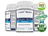 Leaky Gut Supports Repair by Liver Medic | Supports Relief of Heartburn. Bloating, Gas, Constipation, SIBO. Contains L-Glutamine, Slippery Elm, Zinc, NAG