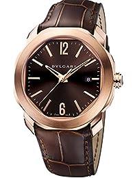 Mens Bulgari Octo Roma Rose Gold Watch 102702 OCP41C1GLD