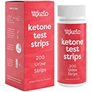 Kiss My Keto Strips — 200 Ketosis Test Strips for Low Carb Diets | Extra Long, Medical Grade Keto Urine Testing Strips | Keto Sticks for Ketone Urinalysis — Accurately Measure & Monitor Ketone Levels