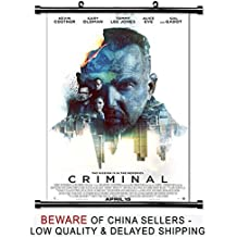 Criminal 2016 Kevin Costner Movie Fabric Wall Scroll Poster (16x25) Inches