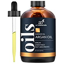 Art Naturals Organic Argan Oil for Hair, Face & Skin 4 oz - 100% Pure Grade A Triple Extra Virgin Cold Pressed From The kernels of the Moroccan Argan Tree - The Anti Aging, Anti Wrinkle Beauty Secret