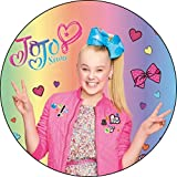 "JoJo Siwa Peace Sign Birthday Edible Frosting Image 5"" Round Cake Topper"
