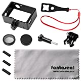 Fantaseal® Must-Have 10-in-1 Kit for GoPro Frame GoPro Mount GoPro Aceessoires kit w/ Protective UV Lens + Long Screw + Wrench + Anti-Dust Cap + Buckle Clip + Lens Cloth for GoPro Hero 4/3+/3