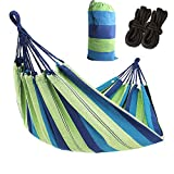 AC Doctor INC Outdoor Leisure Double 2 Person Cotton Hammocks 450lbs Ultralight Camping Hammock with Backpack (Beach Blue)