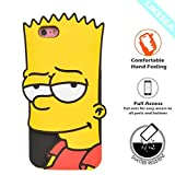 LIKESEA 3D Silicone Case for Apple iPhone 7 (4.7 inches), Lovely Cartoon Soft TPU Gel Protective Cover with Shock-Absorption and Anti-Scratch, Bart