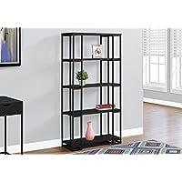 Monarch I 7240 Bookcase-60 H Metal, Black