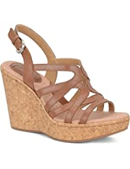 Born Womens Nilsa Leather Open Toe Casual Platform Sandals