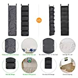 NEWKITS Vertical Wall Garden Planter with 6 Pockets Best Plant Growth Design Large Space Waterproof Breathable Use for Hanging Herb Garden Courtyard Office Home Decoration