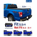 Tyger Auto TG-BC3F1041 Tri-Fold Tonneau Truck Bed Cover (For 2015-2016 F150 Extra Short 5.5 feet (66 inch) Bed Tri-Fold Truck Cargo Bed Tonneau Cover)