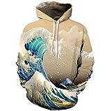 Cutiefox Unisex 3D Digital Print Pullover Hooded Sweatshirt Pocket Hoodies