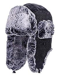 HELLOYEE Winter Warm Tropper Trapper Hat Ushanka Russian Style Bomber Hat