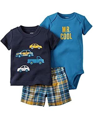 Carter's 3 Piece Graphic Set, Navy/Cars