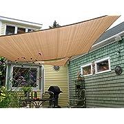 #LightningDeal Shade&Beyond Rectangle Sun Shade Sail for Patio Lawn Deck Garden Pergola
