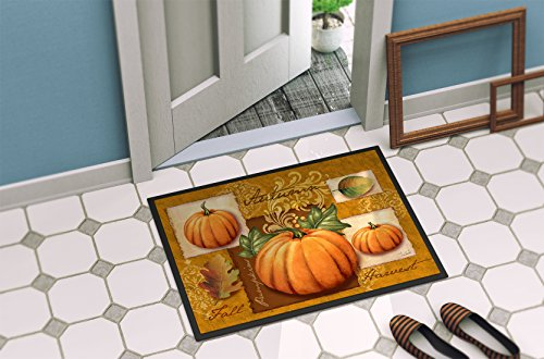Caroline's Treasures PTW2006JMAT Fall Harvest Pumpkins Indoor or Outdoor Mat 24x36, 24H X 36W, Multicolor