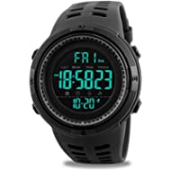 Mens Digital Sports Watch, Military Waterproof Watches Fashion Army Electronic Casual Wristwatch...