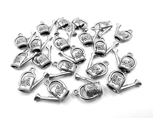 (Gold Chest Jewelers Set of Twenty (20) Pewter Watering Can Charms)