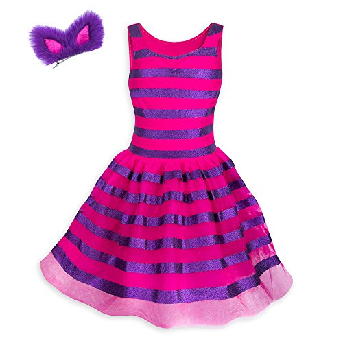 Disney Cheshire Cat Costume Tutu with Headband for Kids - Alice in Wonderland Size Ladies S Pink -