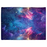 SXCHEN Table Cover Waterproof Linen Washable Polyester Tablecloths Blue Interstellar Galaxy Universum Planet 51 x 66 Inch