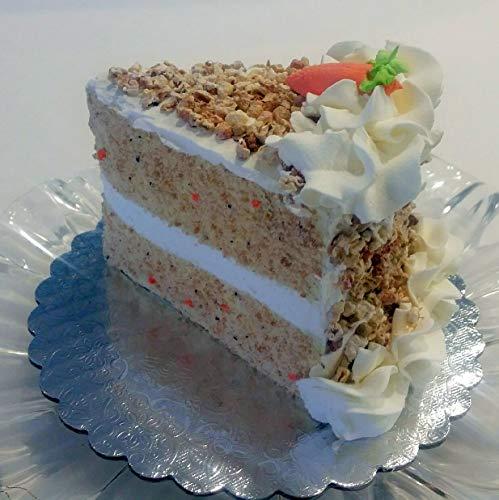 - Dezicakes Fake Piece of Cake Slice Carrot Cake w/Nuts Decoration Prop
