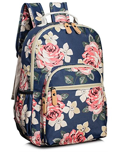 Leaper Floral School Backpack for Girls Travel Bag Bookbag Satchel