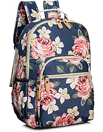 f1046c6911a8ba Leaper Water-resistant Floral School Backpack Travel Bag Bookbags Satchel