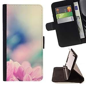 - Queen Pattern FOR Samsung Galaxy A3 /La identificaci????n del cr????dito ranuras para tarjetas tir????n de la caja Cartera de cuero cubie - spring flower nature blurry floral -