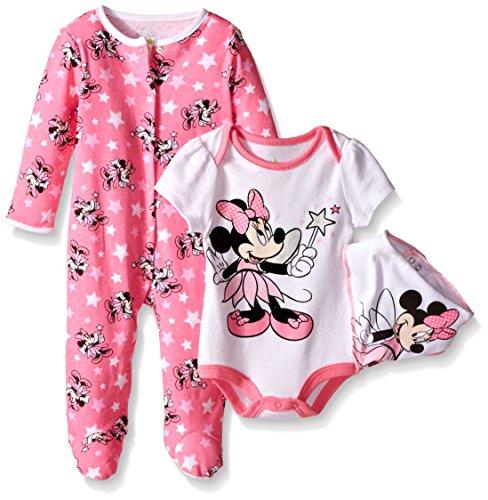 Disney Minnie 3 Piece Footie Bodysuit