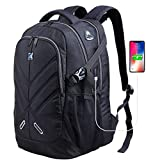 OUTJOY Laptop Backpack for Men Women Waterproof School Backpack Shockproof Computer Backpack Fits 17 Inches Laptops with Rain Cover+USB Charging Port,Mens Backpack for Travel College Work Daypack