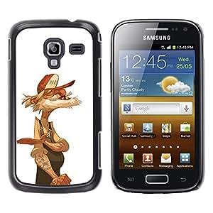YOYOYO Smartphone Protección Defender Duro Negro Funda Imagen Diseño Carcasa Tapa Case Skin Cover Para Samsung Galaxy Ace 2 I8160 Ace II X S7560M - viejo camionero marinero jubilado blanco