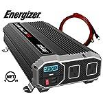 ENERGIZER-2000-Watt-12V-Power-Inverter-Dual-110V-AC-Outlets-Automotive-Back-Up-Power-Supply-Car-InverterConverts-120-Volt-AC-with-2-USB-ports-24A-Each