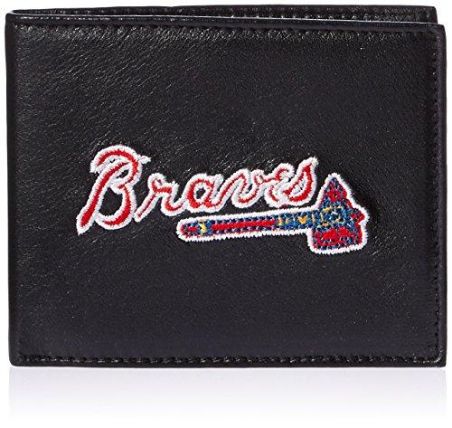 MLB Atlanta Braves Embroidered Genuine Cowhide Leather Billfold (Atlanta Braves Credit Card)