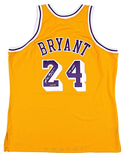 Kobe Bryant Signed Autograph 08 Mvp Authentic Lakers Throwback Jersey Panini Le 50