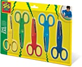 SES Creative 839 Zigzag Scissors, Yellow, Red, Green, Light Blue