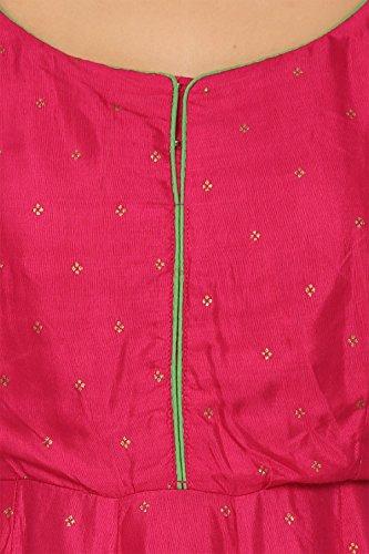 BIBA Pink Anarkali Viscose Kurta34 by Biba (Image #4)