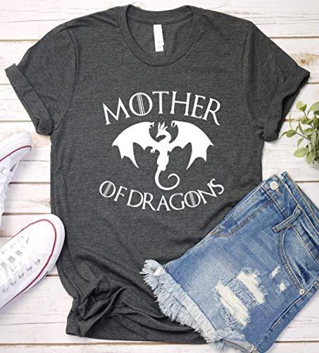 Mother of Dragons Shirt, GOT Gift Idea, Game T-Shirt, Short Sleeve, V-Neck, Long Sleeve