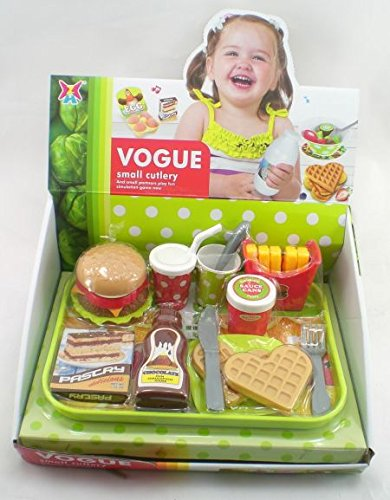 Hamburger Toy (Fast Food Hamburger Tray Kids Meal With Fries And Drink Toy)