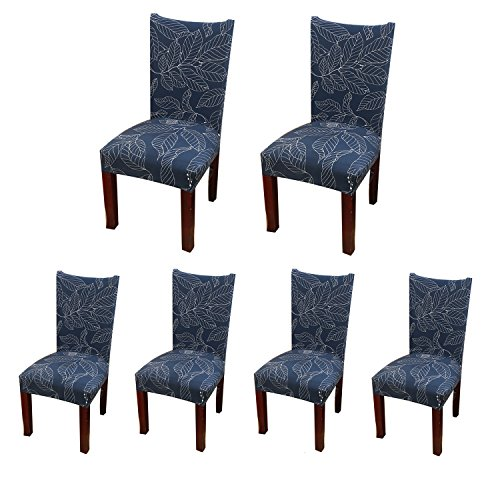 Cotton Dining Room Chair - Jiuhong Stretch Removable Washable Short Dining Chair Protector Cover Slipcover (6, Style 24)