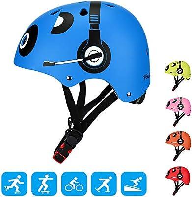 Bicycle Helmet BMX Bike Skateboard Stunt Scooter Lid Black Kids Adult Shockproof